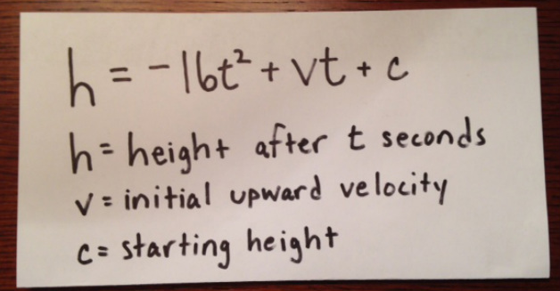 Initial Upward Velocity Project Welcome To Mr Dunaway S